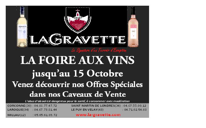 foire aux vins la gravette de corconne. Black Bedroom Furniture Sets. Home Design Ideas